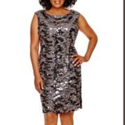Studio 1® Sleeveless Sequin Sheath Dress - Plus