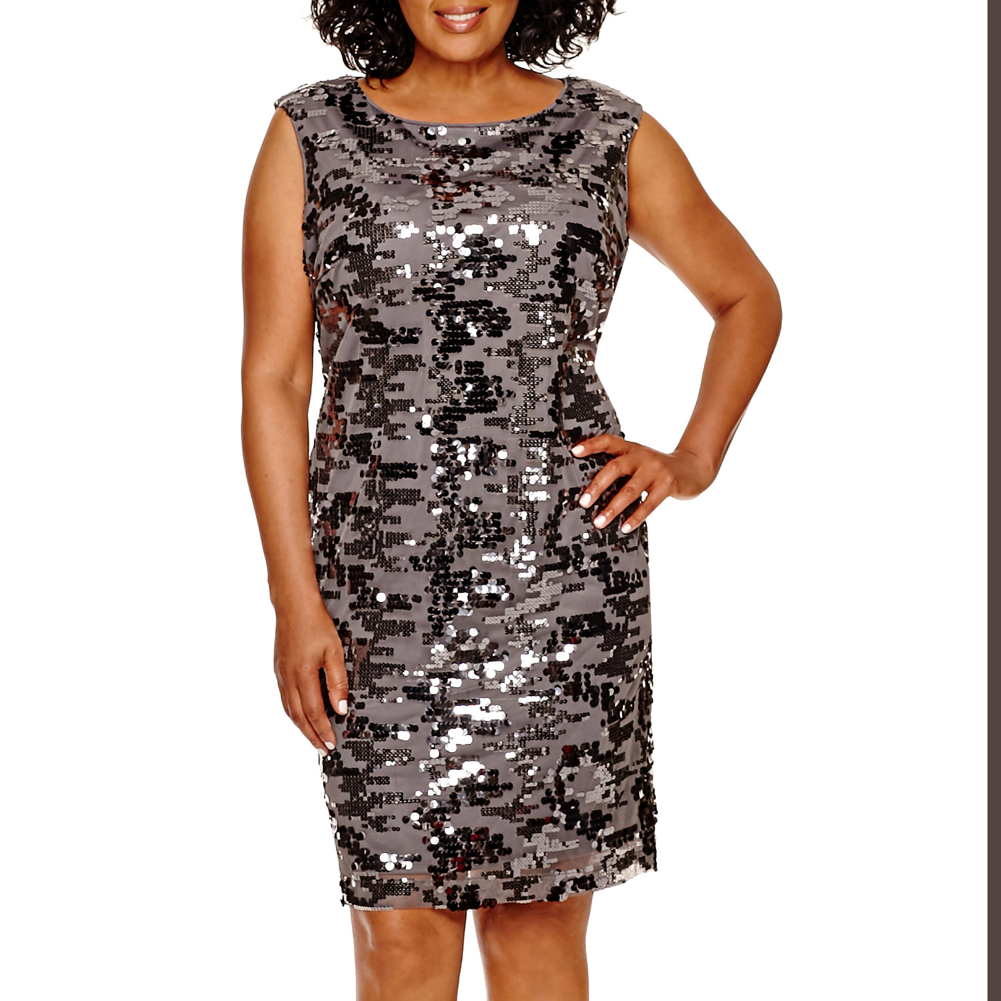 Studio 1 Sleeveless Sequin Sheath Dress - Plus