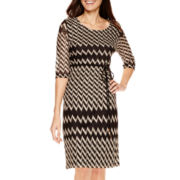 Studio 1® 3/4-Sleeve Belted Sweater Dress - Petite