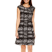 Studio 1® Sleeveless Fit-and-Flare Sweater Dress - Petite