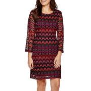 Studio 1® Long-Sleeve Knit Sheath Sweater Dress - Petite