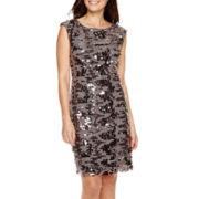Studio 1® Sleeveless Sequin Sheath Dress - Petite