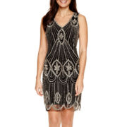 MSK Sleeveless Beaded Sheath Dress - Petite