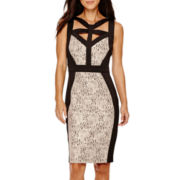 Melrose Sleeveless Cutout Sheath Dress