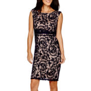 Simply Lilliana Sleeveless Lace Sheath Dress