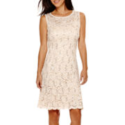 RN studio by Ronni Nicole® Sleeveless Sequin Lace Fit-and-Flare Dress