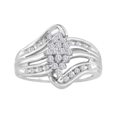 jcpenney.com | 1/2 CT. T.W. Diamond Sterling Silver Cluster Ring