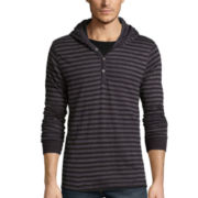 Burnside® Striped Jersey Hoodie Shirt