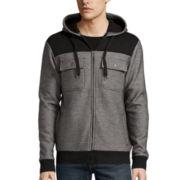 Chalc® Black/Grey Fleece Hooded Jacket