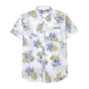 Novelty Minions Short-Sleeve Woven Button Front Shirt