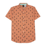 Novelty Mickey Mouse Short-Sleeve Woven Button Front Shirt