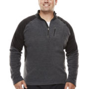 Asics® Quarter-Zip Microfleece Pullover - Big & Tall