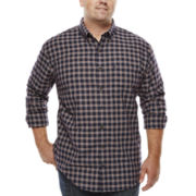 IZOD® Long-Sleeve Plaid Woven Shirt