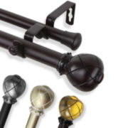 "Supreme 1"" Adjustable Curtain Rod Collection"