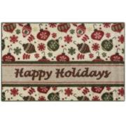 Happy Holidays Rectangular rug