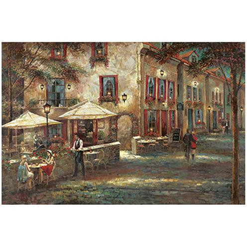 Courtyard Café Canvas Wall Art