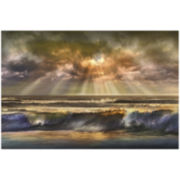 Waves of Light Canvas Wall Art