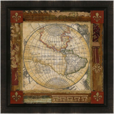 jcpenney.com | Earth Detail Framed Canvas Wall Art