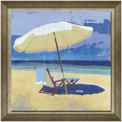 Seating for One Framed Canvas Wall Art