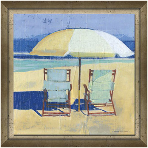 Seating for Two Framed Canvas Wall Art
