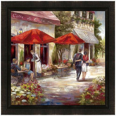Café Afternoon Framed Canvas Wall Art