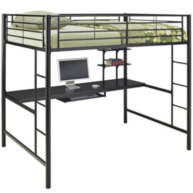 jcpenney.com | Pearson Full Loft Bed Over Workstation