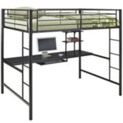 Pearson Full Loft Bed Over Workstation