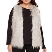 Alyx® Sleeveless Faux-Fur Vest - Plus