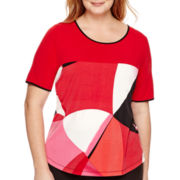 Worthington® Short-Sleeve Colorblock T-Shirt - Plus