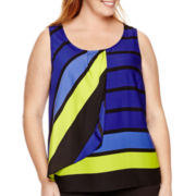 Worthington® Sleeveless Tiered Blouse - Plus