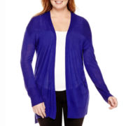 Worthington® Long Sleeve Duster Cardigan Sweater -Plus