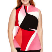 Worthington® Sleeveless Mockneck Tunic Top - Plus
