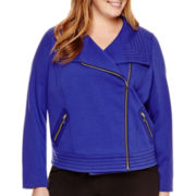 Worthington® Long-Sleeve Moto Jacket - Plus
