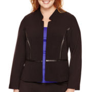 Worthington® Long-Sleeve Peplum Jacket - Plus