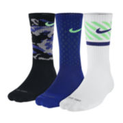 Nike® 3-pk. Dri-FIT Triple Fly Crew Socks