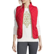 St. John's Bay® Sleeveless Quilted Vest