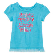 Okie Dokie® Holiday Tulle Tee - Baby Girls newborn-24m