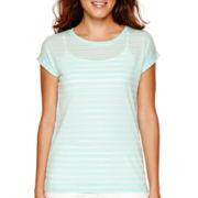 Stylus™ Short-Sleeve Eyelet Stripe T-Shirt