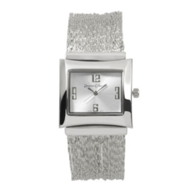 jcpenney.com | Journee Collection Womens Square Dial Mesh Watch