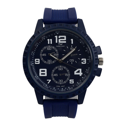 Territory Mens Silicone Strap Watch