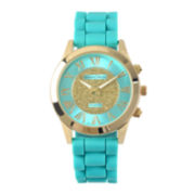 Journee Collection Womens Silicone Strap Watch