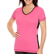 Made For Life™ Short-Sleeve Side-Inset Mesh T-Shirt