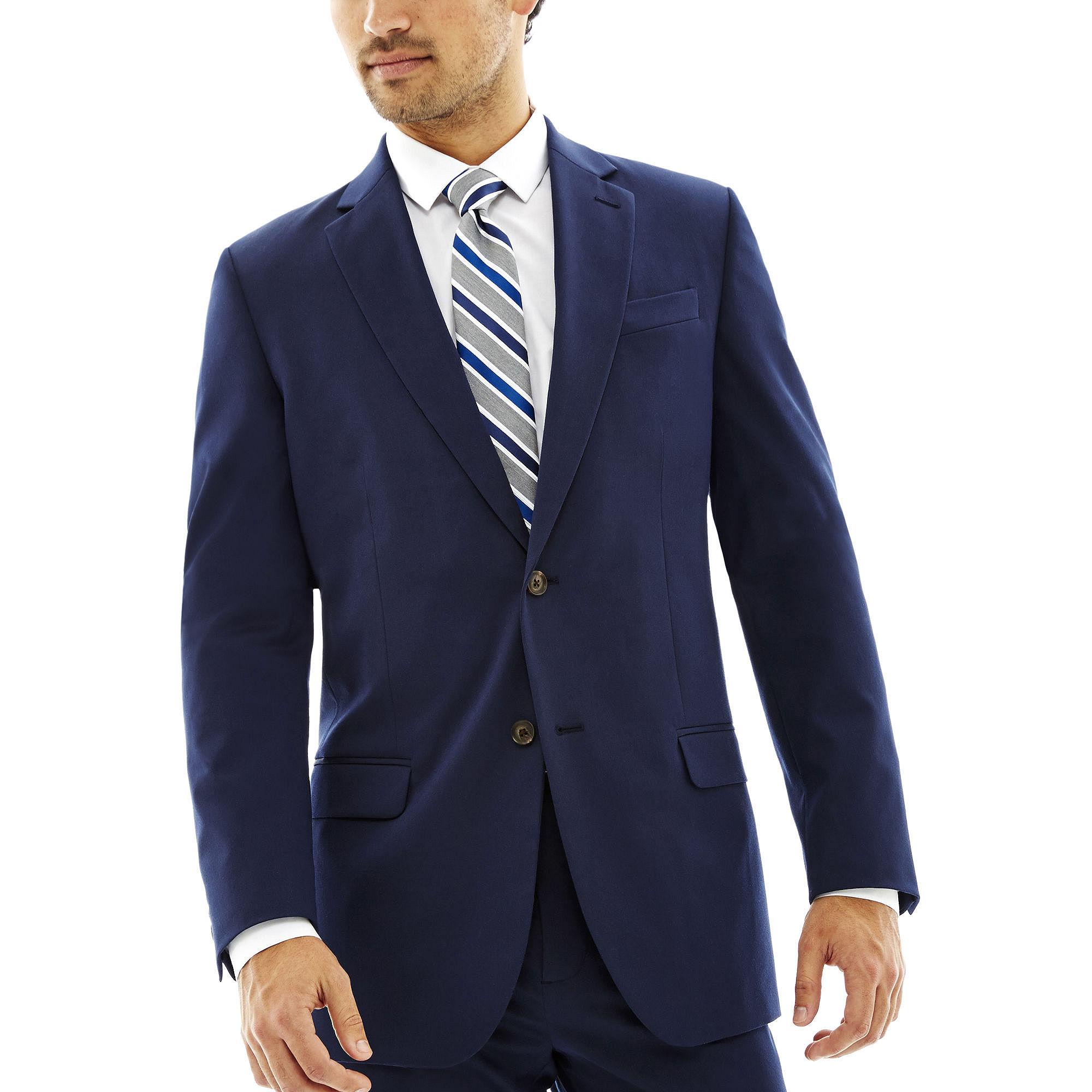 JF J. Ferrar Stretch Gabardine Suit Jacket - Slim Fit plus size,  plus size fashion plus size appare