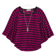 Speechless® Striped Circle Top and Necklace - Girls 7-16