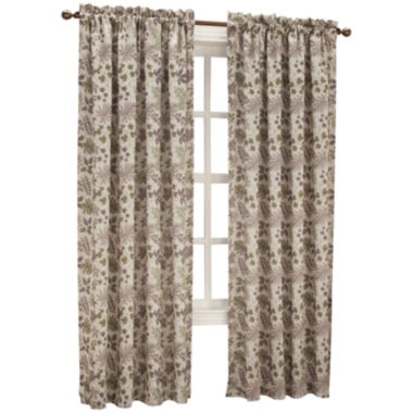 jcpenney.com | Sun Zero™ Emory Printed Folliage Room-Darkening Rod-Pocket Curtain Panel