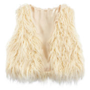 Beautees Faux-Fur Vest - Girls 7-16