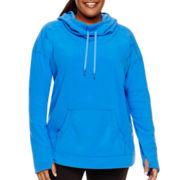 Xersion™ Long-Sleeve Fleece Pullover - Plus