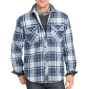 IZOD® Heavy Twill Sherpa Shirt Jacket
