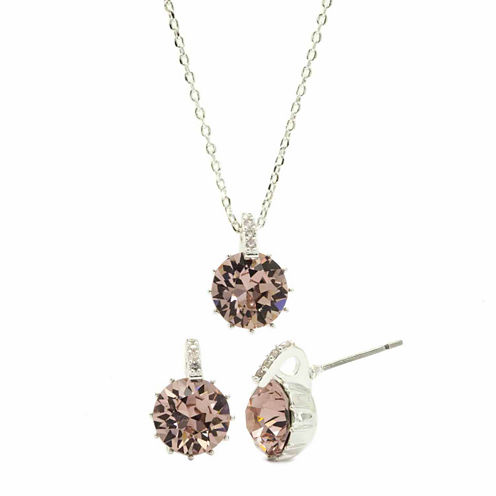 Sparkle Allure 2-pc. Pink Crystal Jewelry Set