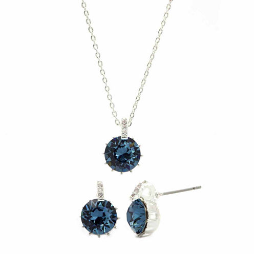 Sparkle Allure 2-pc. Blue Crystal Jewelry Set